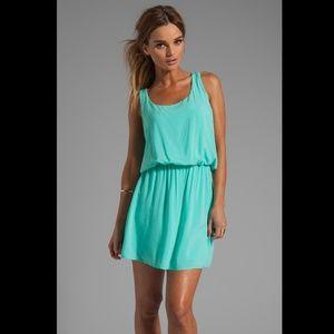 Splendid turquoise rayon tank mini dress NWT